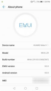 Huawei Mate 9 Android Oreo-update
