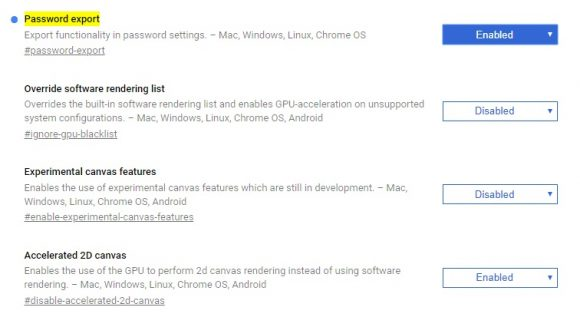 Chrome wachtwoorden exporteren 1