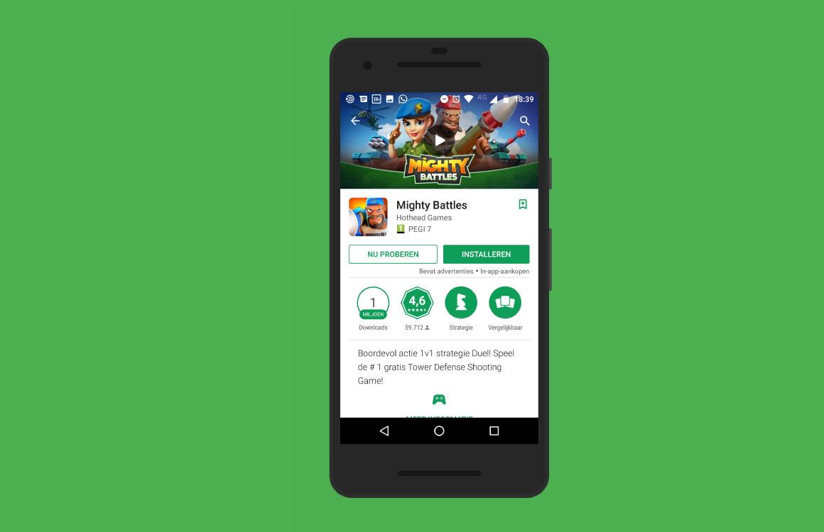 Direct gamen zonder eerst installeren dankzij Google Play Instant