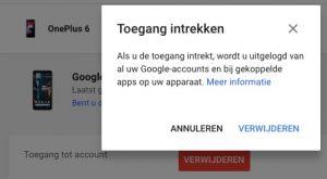 google account beheren