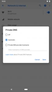 Android P-veegbewegingen