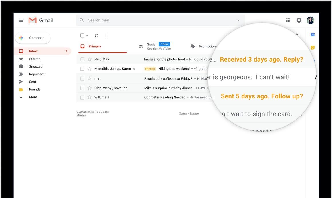 Gmail desktop-update