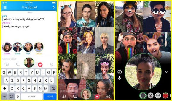 Snapchat-groepsgesprek