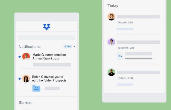 Dropbox-update maakt samenwerken met collega's makkelijker