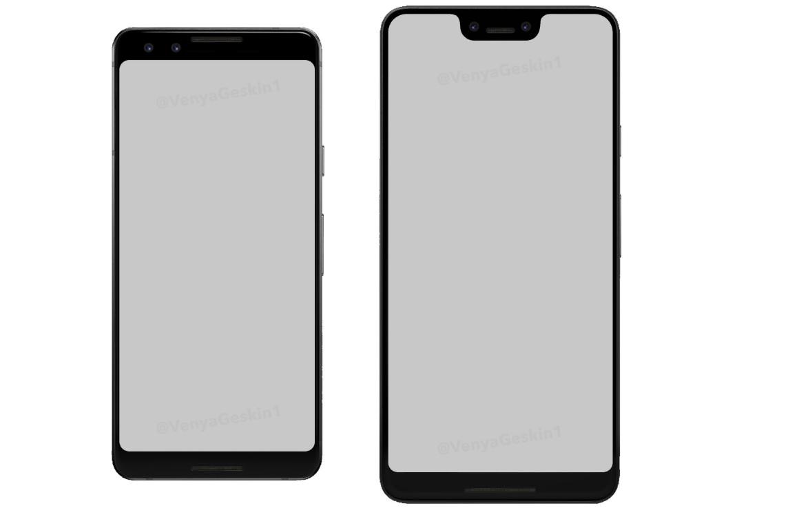 'Dit zijn de Google Pixel 3 en Pixel 3 XL met notch'