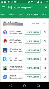 Google Play Store Bibliotheek opruimen tips (1)