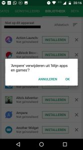 Google Play Store Bibliotheek opruimen tips 4