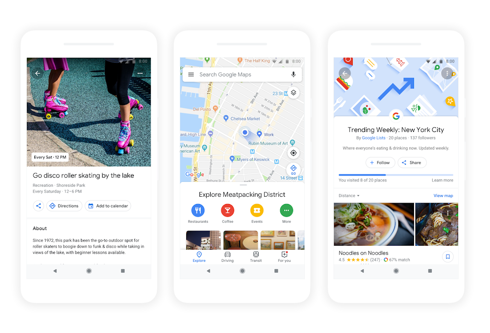 Google Maps-update 2018