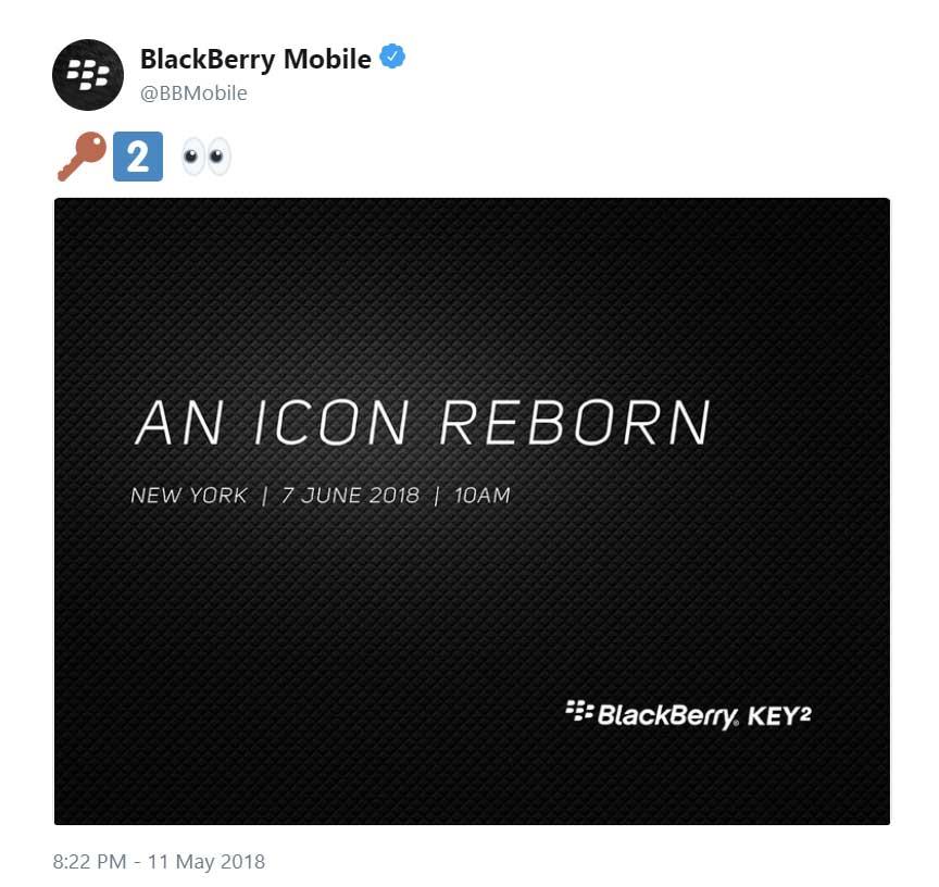 blackberry key2 onthulling
