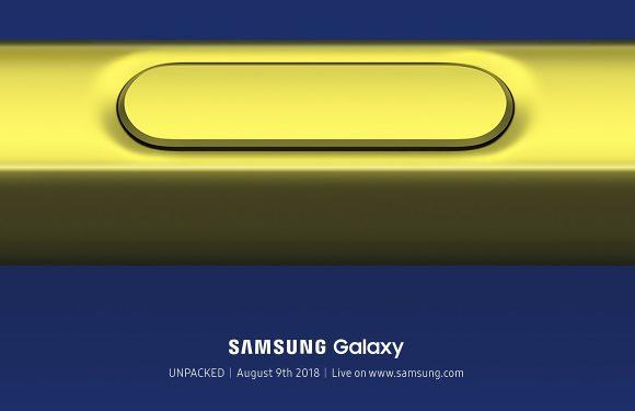 'Samsung Galaxy Note 9 wordt vanaf 24 augustus geleverd'
