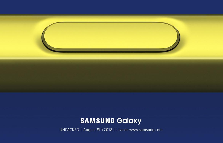Samsung Galaxy Note 9 wordt op 9 augustus gepresenteerd