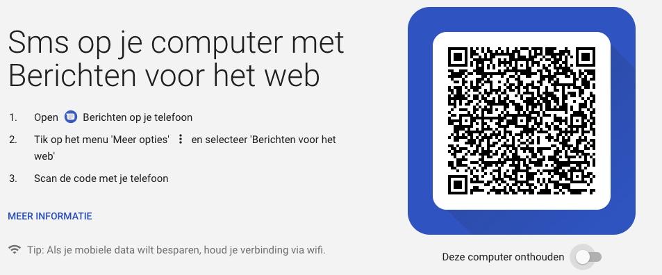 android berichten webversie