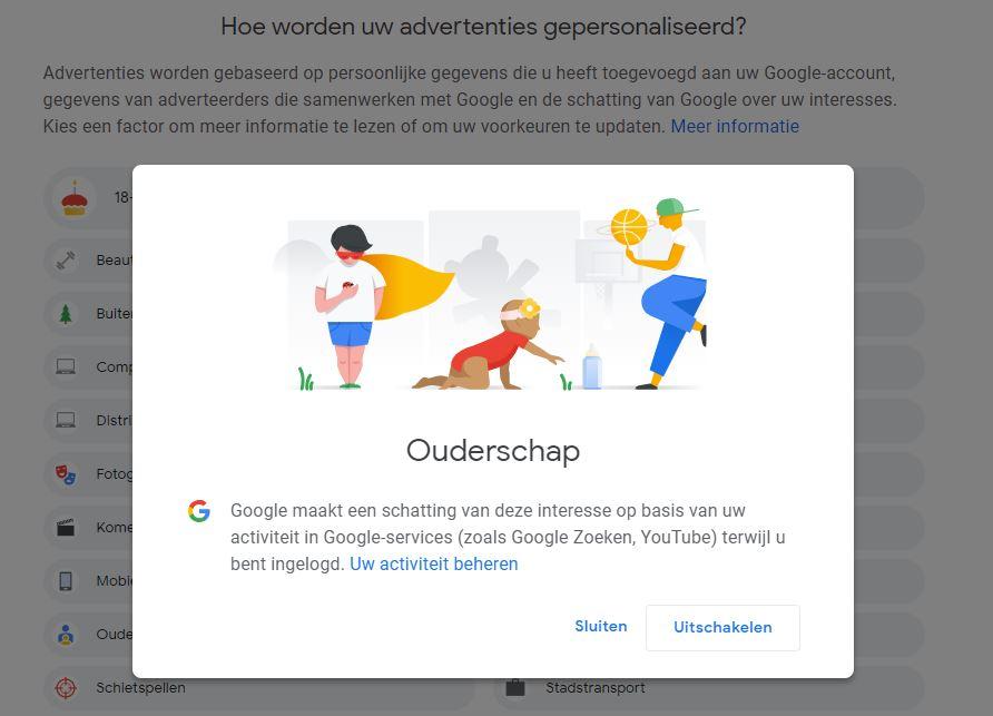 Google Advertenties onderwerp aanpassen