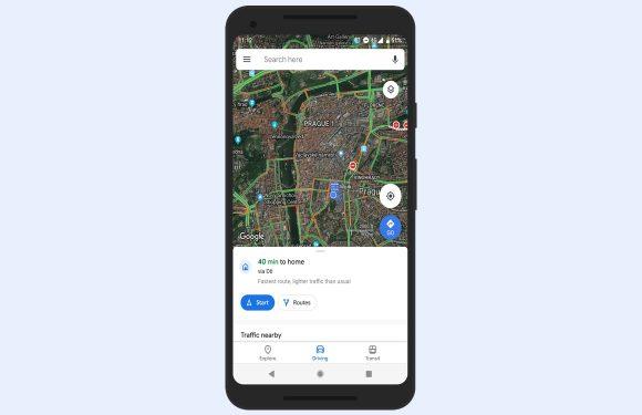 Zo ziet het nieuwe design van Google Maps eruit