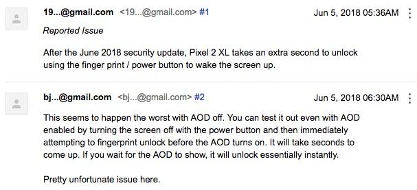 google pixel 2 xl bug