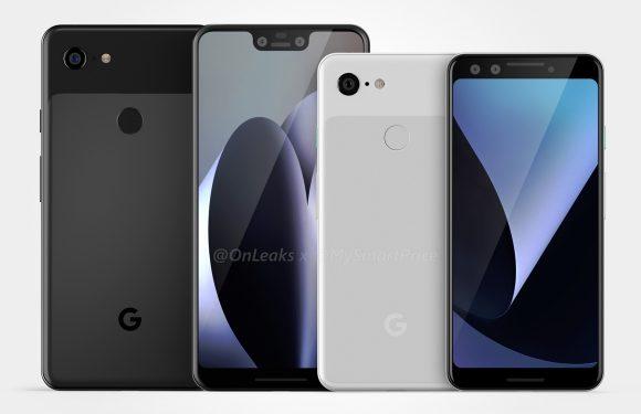Renders: zo zien de Google Pixel 3 en Pixel 3 XL er waarschijnlijk uit