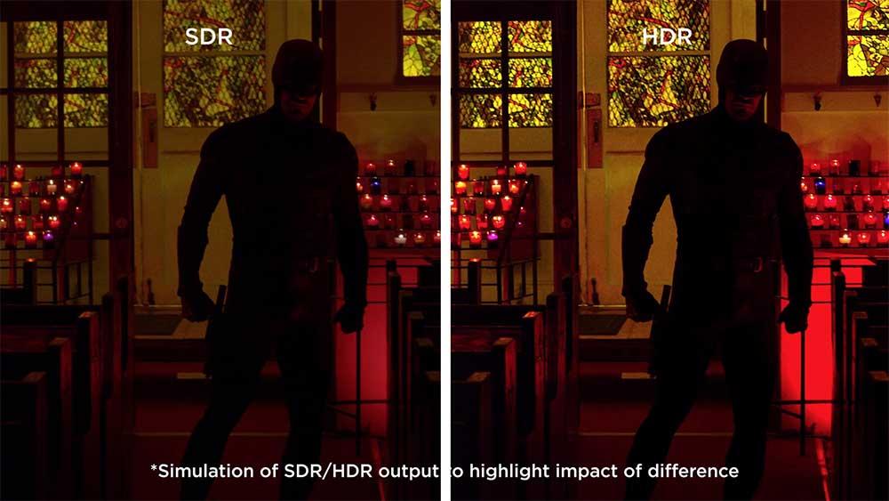 Vergelijking: beeld met en zonder hdr (niet op OnePlus 7 Pro)
