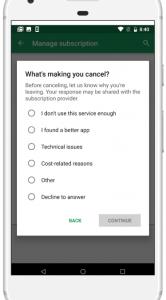Google Play Store abonnementen aanpassen
