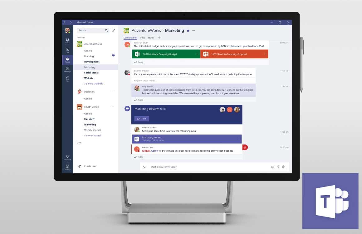 Microsoft Teams gaat de concurrentie aan met populaire chat-app Slack