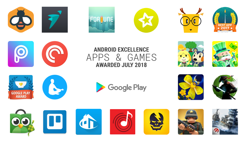 Android Excellence-apps zomer 2018