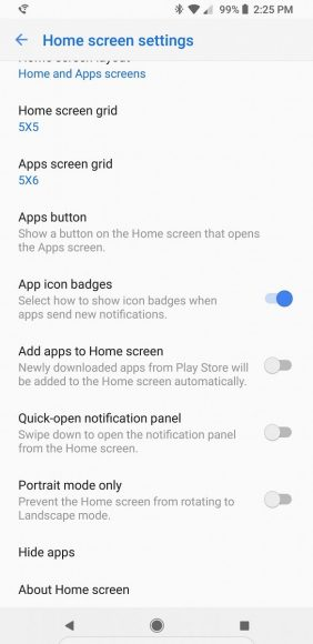 Samsung Galaxy-homescreen portretmodus