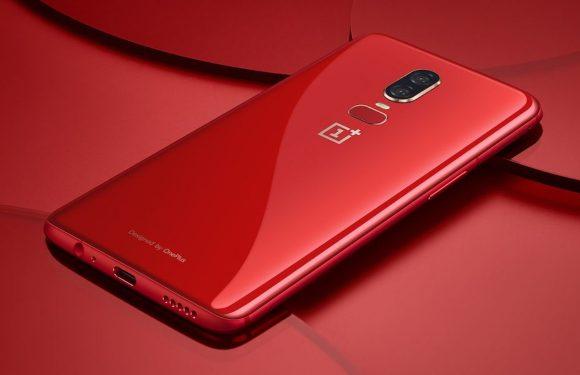 Glanzend rode OnePlus 6 vanaf 10 juli te koop