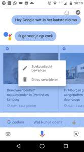 Google Assistent gesprek verwijderen screen 1