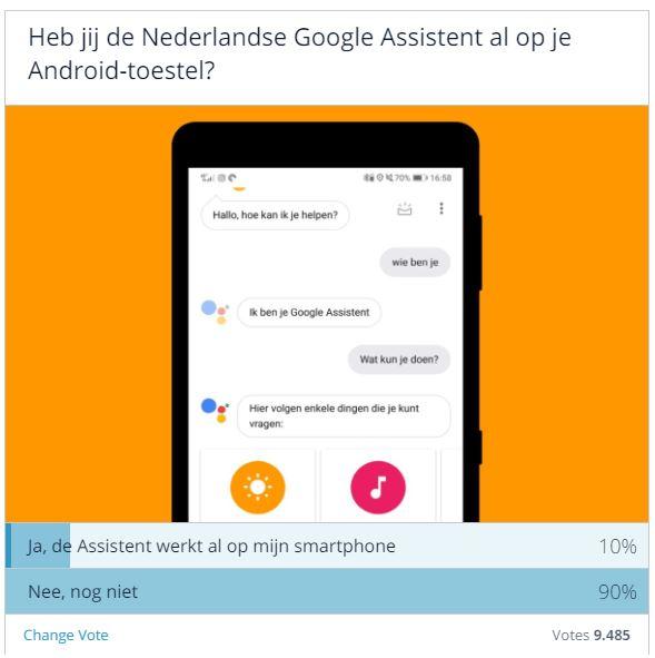 Geen Nederlandse Google Assistent poll