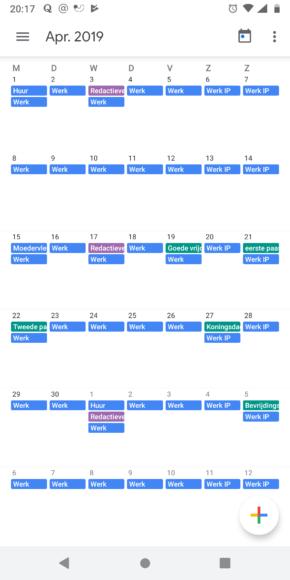 Google Agenda Material Design screen (1)