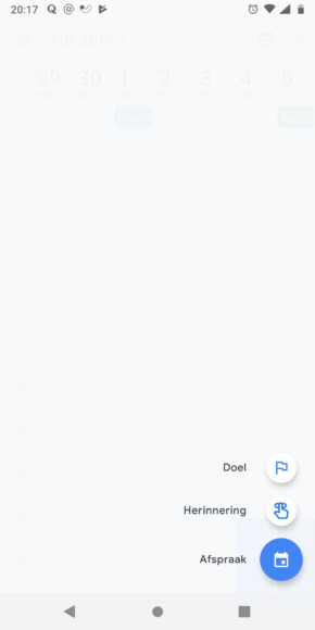 Google Agenda Material Design screen (2)