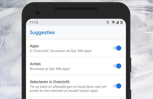 Zo zet je de app-suggesties aan of uit in Android 9.0 (Pie)