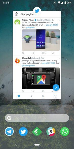 android pie splitscreen