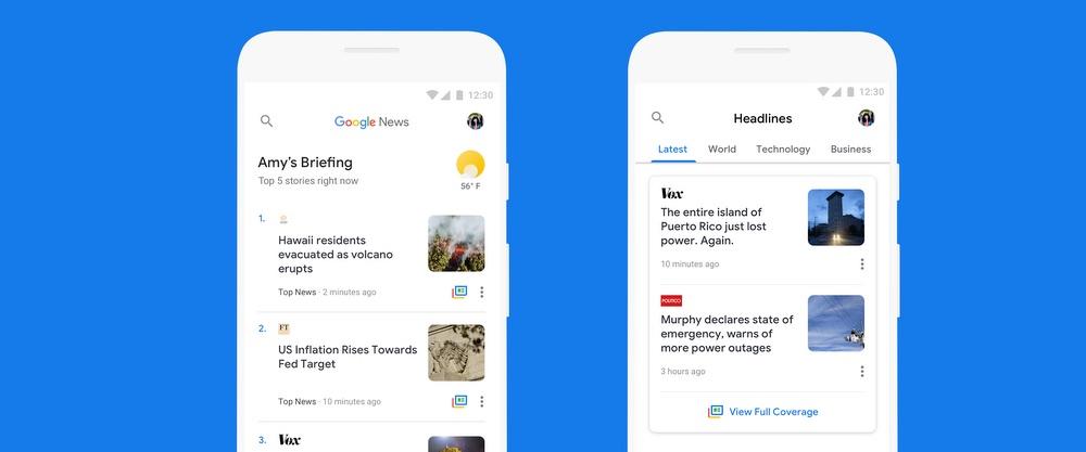 google nieuws-update