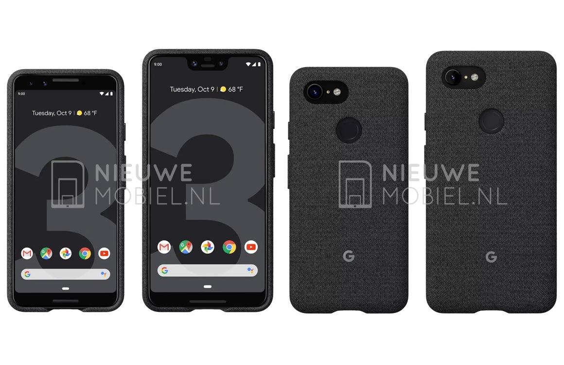 'Eerste persrenders Google Pixel 3 en Pixel 3 XL verschijnen online'