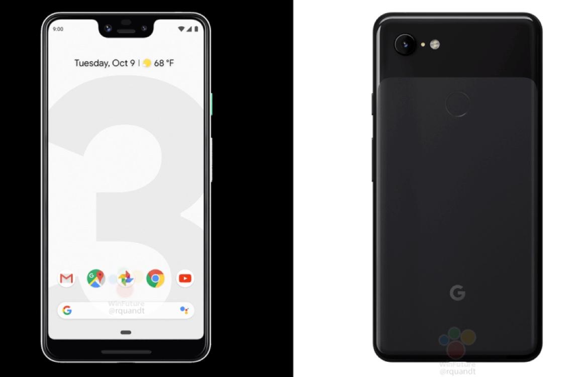 'Persrenders tonen Google Pixel 3 en Pixel 3 XL in vol ornaat' (+ wallpapers)