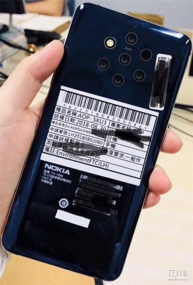 Nokia 9 camera's