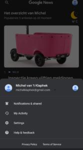 Google Nieuws donkere modus screenshot (1)