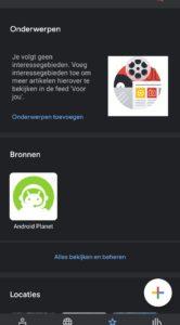 Google Nieuws Android Planet toevoegen