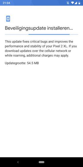android-beveiligingsupdate oktober 2018