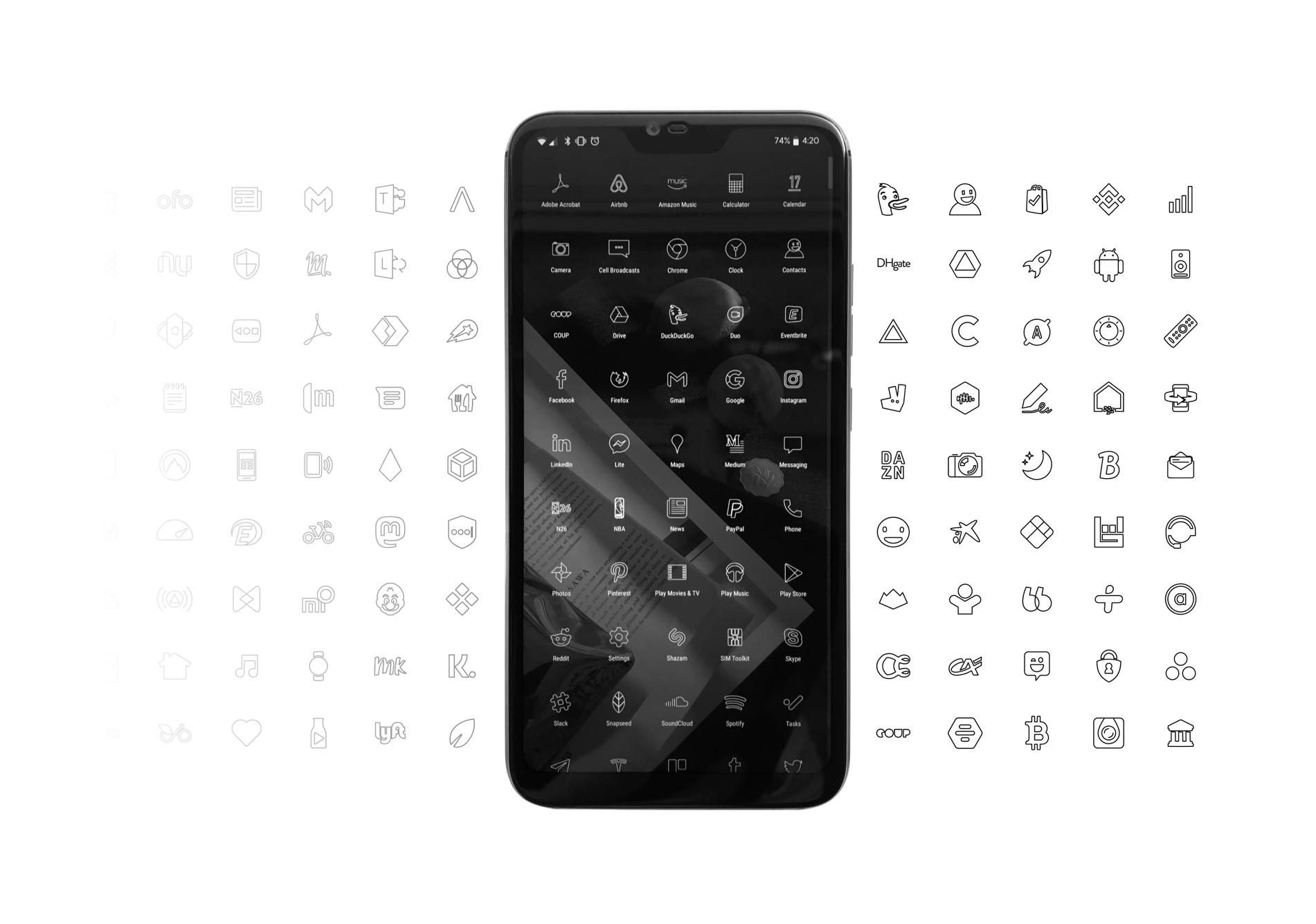 Minimalistische smartphone Blloc