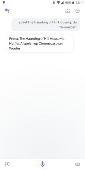 chromecast stembesturing