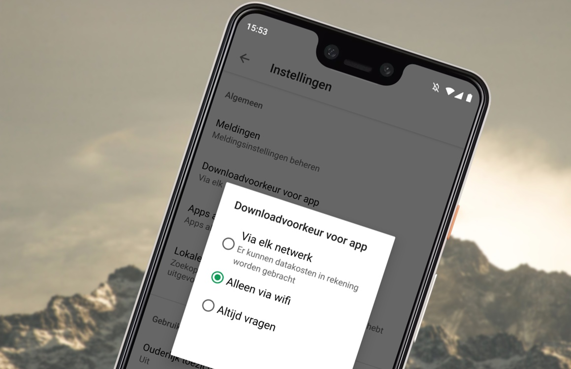 Tip: Zo laat je apps uit de Play Store enkel via wifi downloaden