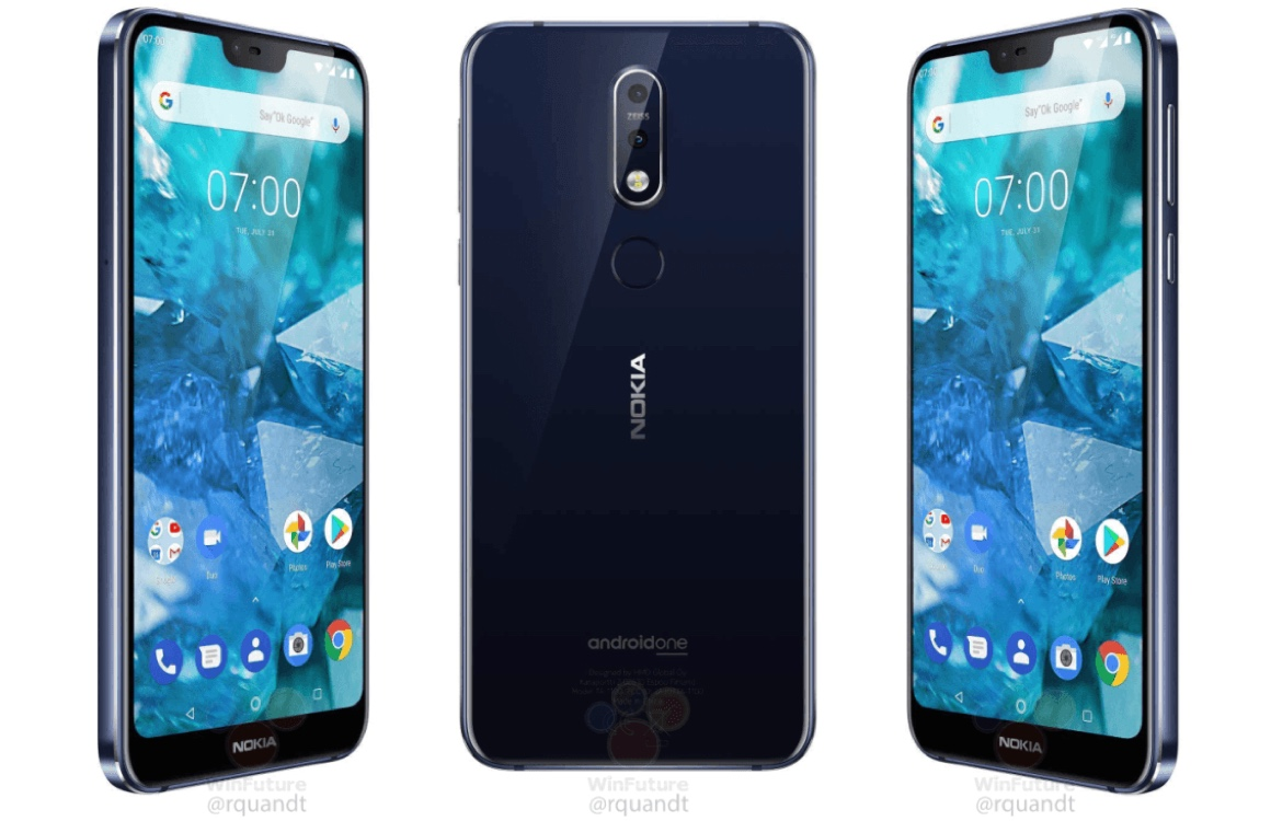 'Nokia 7.1 naar Europa: Android One, dubbele camera en notch'