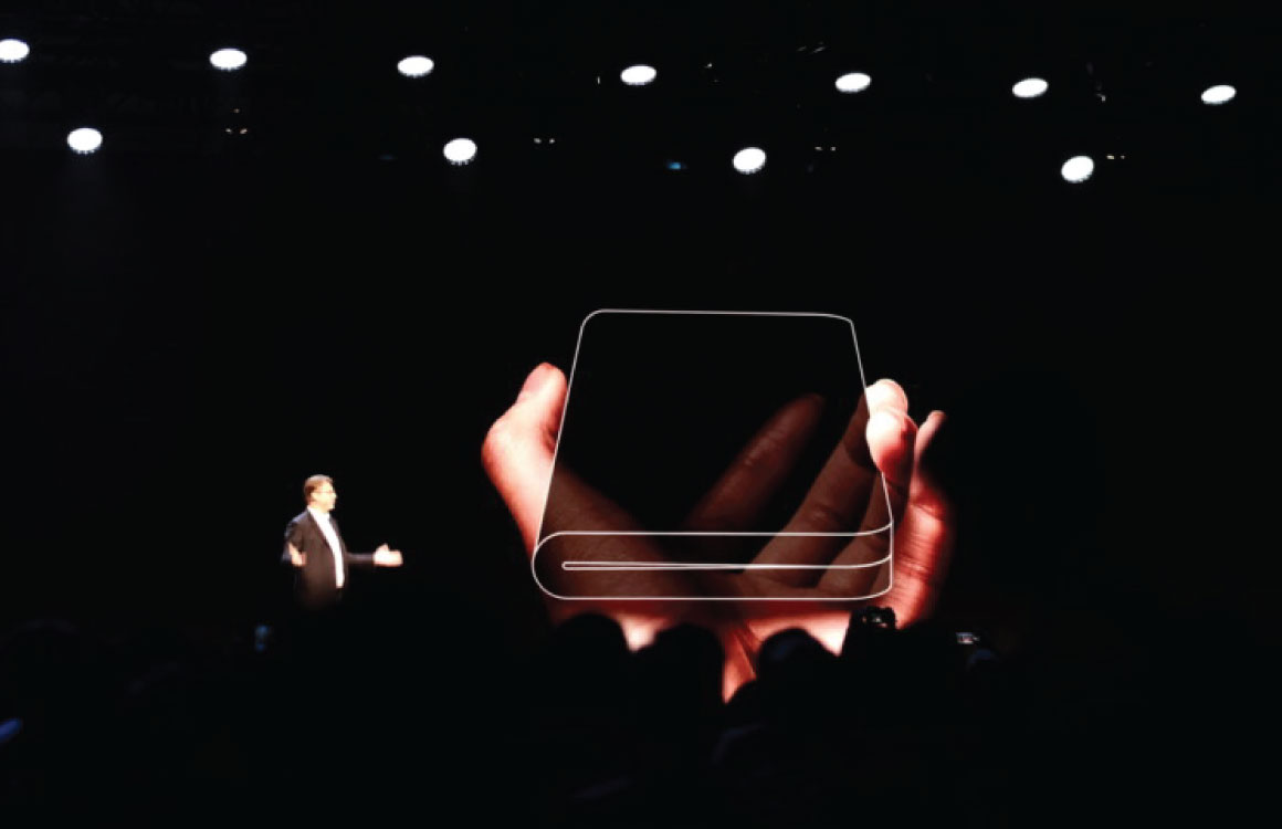 Samsung kondigt eerste opvouwbare telefoon aan, verschijnt volgend jaar