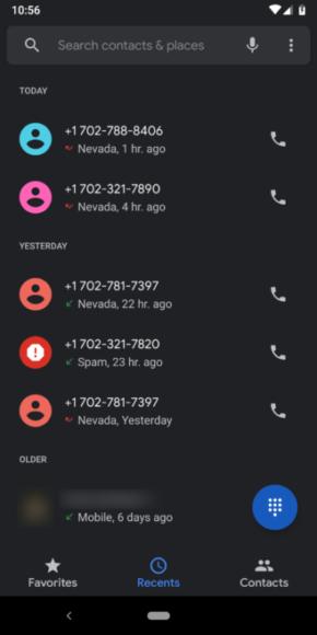 Google Telefoon-update