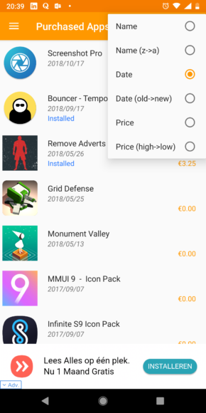 Purchased Apps screenshot (2)