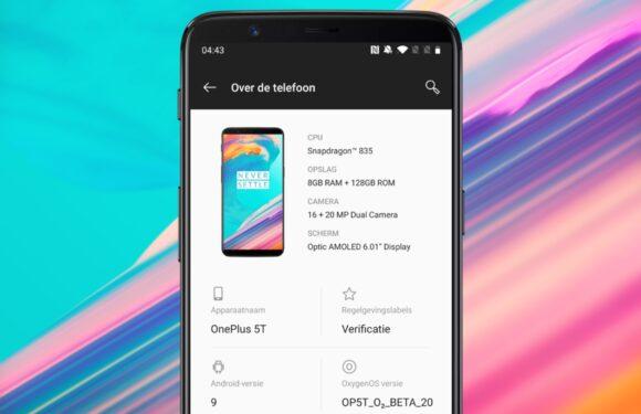 Zo installeer je Android Pie alvast op je OnePlus 5 of 5T