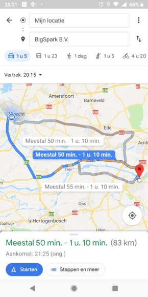 Google Maps Aankomsttijd (3)