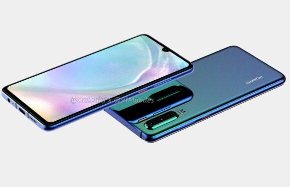 'Dit is de Huawei P30 met vingerafdrukscanner onder het 6 inch-scherm'