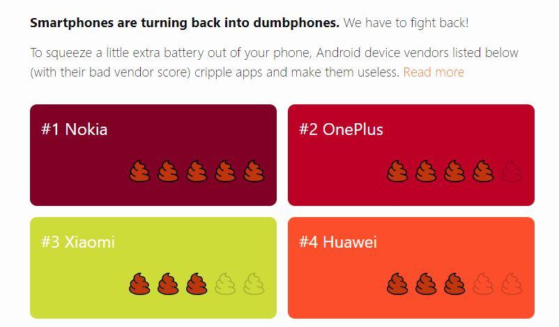 Android-apps op de achtergrond